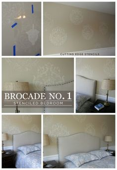 Hometalk :: Don't Be Afraid To Stencil the Brocade