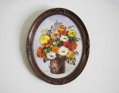 Home Design Ideas Oil Painting Flowers, Flower Oil, Oval Frame, Vintage Frames, Decorative Plates, Tableware, Creative, Decorating Ideas, Profile