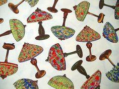 Baumwollstoff mit Tiffany Lampen von Nähwittchen auf DaWanda.com
