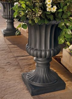 Classical Tuscany Indoor/Outdoor Urn Paint outdoor urns this color Outdoor Decor, Decor, Urn, Front Yard Landscaping, Mediterranean Home Decor, Tuscan Decorating, Luxury Home Decor, Urn Planters, Decorative Urns