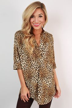 This leopard print top is perfection.
