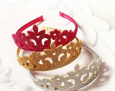 Princess Glitter Felt Crowns - Little Livey - 1 Perfect for Any Princess, Glitter Felt Crowns, Add to any outfit or give out as party favors. Foam Crafts, Diy And Crafts, Crafts For Kids, Princess Party Favors, Felt Crown, Felt Pillow, Diy Crown, Fairy Crafts, Kids Dress Up
