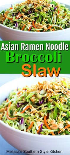 Add crunch and a pop of flavor to your meal with this easy-to-make This Asian Ramen Noodle Broccoli Slaw. It's certain to add a twist to your salad menu. Broccoli Slaw Recipes, Broccoli Slaw Salad, Spinach Salad Recipes, Chicken Salad Recipes, Asian Broccoli Slaw, Chicken Pasta, Broccoli Slaw Dressing, Broccoli Cole Slaw, Best Broccoli Salad Recipe