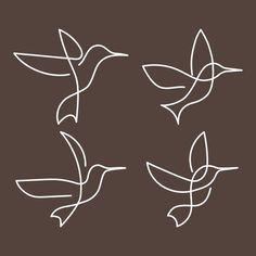 Bird Illustration, Illustrations, Small Girly Tattoos, Bird Drawings, Bird Line Drawing, Continuous Line Drawing, Hummingbird Tattoo, Friend Tattoos, Free Vector Graphics