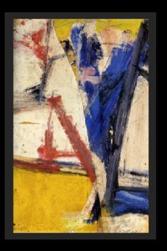 """Willem de Kooning - """"Sans titre"""", 1957 - Huile et craie sur carton marouflé - 56 x 37 cm (*)"""