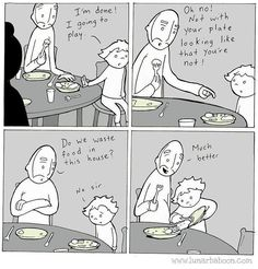 I am laying in bed and I laughed so hard I woke up Joseph. - - - - ... www.lunarbaboon.com #Repost @lunarbaboon #SnapedWorks