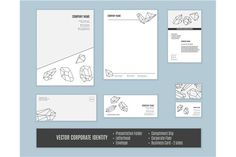 Vector corporate identity templates. Stationery Templates