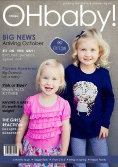OHbaby! magazine copy -  Pregnancy announcement for baby number 3