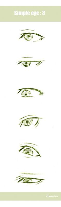 Olho masculino #eye #male #animeboy