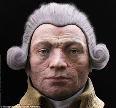 Reconstruction: Death mask made by Madame Tussaud has been used to recreate the likeness of Maximilien de Robespierre. Facial reconstruction experts create Robespierre from Madame Tussaud death mask sculpted after his beheading two centuries ago Forensic Facial Reconstruction, 3d Reconstruction, George Washington, Revolution Poster, French Revolution, Famous Historical Figures, French History, Madame Tussauds, Julius Caesar