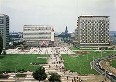 Dresden, Prager Straße nach ihrer Fertigstellung, 1979 (Bild: SLUB Dresden/Deutsche Fotothek, Foto: Uwe Görler)