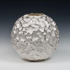 "Hiroshi Suzuki, Earth-Reki VI, 2010 Hammer-raised and chased Fine silver 999 Height 28 cm (11"") Diameter (11 3/8"")"