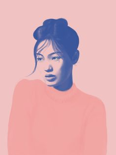 pink, portrait, design, graphic, women, art, moody, fashion, color