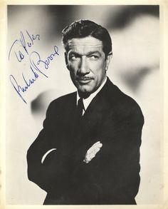 Vintage Actors | 166: BOONE RICHARD: (1917-1981) American Actor. Vintage
