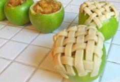 Pie de manzana en manzana! Una manera muy creativa y bonita de servir esa receta tradicional :D