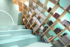Conarte Library bibliothèque Monterrey par Anagrama