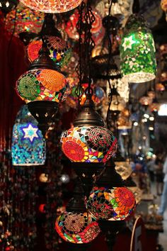 Turkish lamps at Grand Bazaar