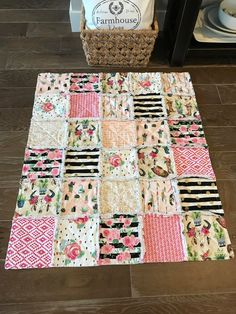 - My Etsy Store - Boho Bedding Quilted Baby Blanket, Baby Rag Quilts, Baby Patchwork Quilt, Handmade Baby Quilts, Pink Quilts, Baby Clothes Blanket, Baby Girl Blankets, Girl Bedding, Boho Bedding