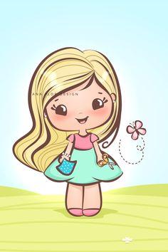 Logotipo, Mascote, Chibi, Identidade Visual, Cute Design, Girl, Branding, Craft, Fofo, delicado, amor Logo Atelier, Chibi, Free Wallpaper Backgrounds, Paisley Art, Cute Cartoon Girl, Watercolor Lettering, Baby Scrapbook, Painting For Kids, Digital Stamps
