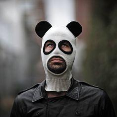 Pandito, A Cotton Knit Panda Ski Mask for Men and Women