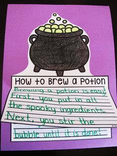 Halloween How to Writing craft and a bunch more writing crafts for October on this post!