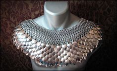 Deluxe Scale Mail Chain mail Mantle Stainless steel collar Dragon Scale Punk Cosplay LARP. $455.00, via Etsy.