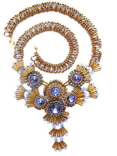 Suprastellar Red Carpet necklace 2 by Cielo Design, via Flickr (it's very thistle-esque wouldn't you agree)