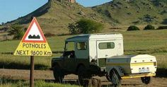 Funny African Road Signs: Potholes For The Next Out Of Africa, East Africa, Africa Rocks, Funny Road Signs, Best 4x4, On The Road Again, Travel Humor, Funny Travel, African Countries