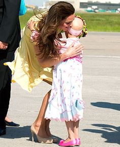 Kate Middleton visited a six year old girl with cancer whose dream was to meet a princess. :)