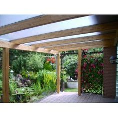 Terrassenüberdachung  5080x2500 mit Holzunterkonstruktion