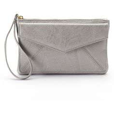 Apt. 9® Envelope Wristlet, Women's, Silver (Pewter) (€18) ❤ liked on Polyvore featuring bags, handbags, clutches, silver, white wristlet, silver handbag, zip wristlet, silver wristlet and pewter handbag