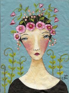 "Julie's Art Life: Painting on Muslin ""Edith Holden"""