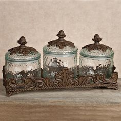 Bathroom Canister Set Enchanting I Love Gracious Goods They Have The Greatest Items For Your Kitchen Design Ideas