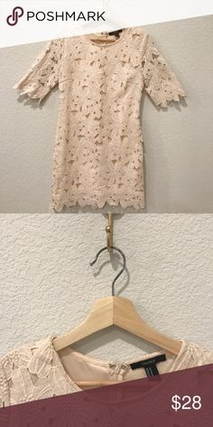 Forever 21 Crochet Lace Dress - M Worn once for a Baby Shower! Perfect  condition 1cc41434e