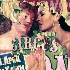 La mora e l'amore The Brunette, Collage, Saatchi Art, Canvas, Movie Posters, Painting, Tela, Collages, Film Poster