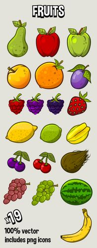 fruits icon pack by Robert Brooks