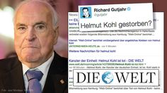 Die Welt vermeldete versehentlich den Tod von Altkanzler Helmut Kohl