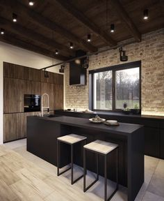 Modern Kitchen Design : Studio: Vae Design Group Designers : Eugene Varkovich Vitalii Savko Location: B Kitchen Dinning, Kitchen And Bath, Kitchen Decor, Asian Kitchen, Dining Room, Küchen Design, House Design, Design Ideas, White Wood Kitchens