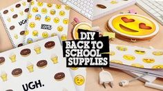 DIY BACK TO SCHOOL - Customiser son AGENDA - YouTube