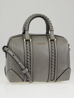Givenchy Grey Calfskin Leather Braided Mini Lucrezia Duffle Bag. Givenchy  Handbags ... 5303750ce9226