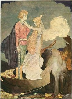 Princess Tuvstar still stares at the water looking for her heart - by John Bauer. by debbie