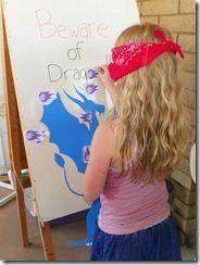 pin fire on the dragon - also dragon coloring contest... dragon bday party ideas.