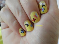 butterfly on yellow - Nail Art Gallery by NAILS Magazine