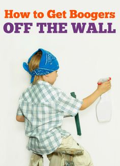 Do you have a booger wall in your house?  A super simple way to get the boogers off your wall - without scraping off the paint!