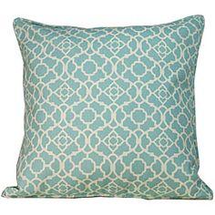 Outdoor Blue Moroccan Decorative Pillow