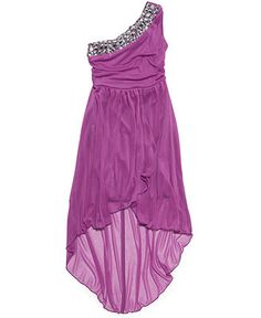 Ruby Rox Girls' One-Shoulder Dress - Kids Girls 7-16 - Macy's