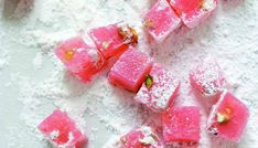 Valentine's Day recipes Turkish delight from Annie Rigg's Gifts from the Kitchen. Perfect for Valentine's Day. Homemade Sweets, Homemade Candies, Turkish Delight, Valentine Day Gifts, Valentines, Rose Water, Candy Recipes, Food Gifts, Cupcakes