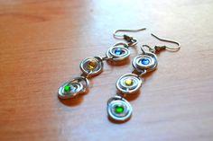 Handmade Dangle Earrings  Roll Drops Earrings por AnaGuillenJewelry - €5.50