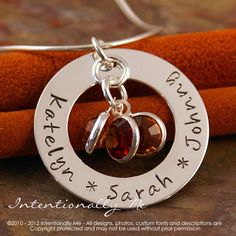 Hand Stamped Jewelry Personalized Sterling by IntentionallyMe