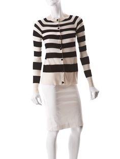 A.L.C. Stripe Cashmere Cardigan